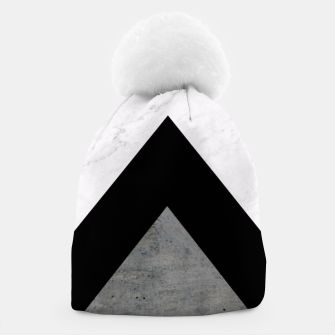Thumbnail image of Arrows Collages Monochrome  Beanie, Live Heroes