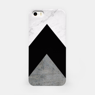 Thumbnail image of Arrows Collages Monochrome  iPhone Case, Live Heroes