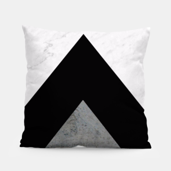 Thumbnail image of Arrows Collages Monochrome  Pillow, Live Heroes