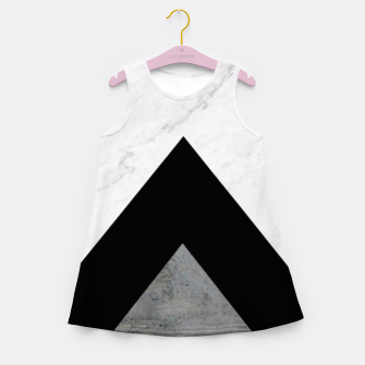 Arrows Collages Monochrome  Girl's Summer Dress miniature