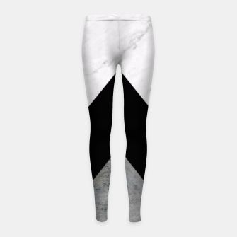 Thumbnail image of Arrows Collages Monochrome  Girl's Leggings, Live Heroes