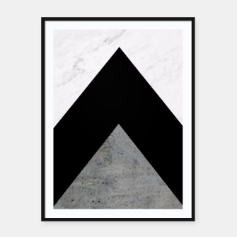 Thumbnail image of Arrows Collages Monochrome  Framed poster, Live Heroes