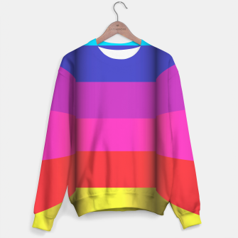 Thumbnail image of Bright Curved Vibrant Abstract Sweater, Live Heroes