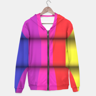 Thumbnail image of Bright Curved Vibrant Abstract Hoodie, Live Heroes