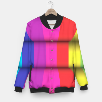 Thumbnail image of Bright Curved Vibrant Abstract Baseball Jacket, Live Heroes