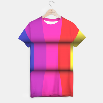 Thumbnail image of Bright Curved Vibrant Abstract T-shirt, Live Heroes