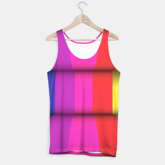 Thumbnail image of Bright Curved Vibrant Abstract Tank Top, Live Heroes