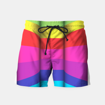 Thumbnail image of Bright Curved Vibrant Abstract Swim Shorts, Live Heroes