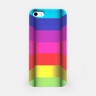 Thumbnail image of Bright Curved Vibrant Abstract iPhone Case, Live Heroes