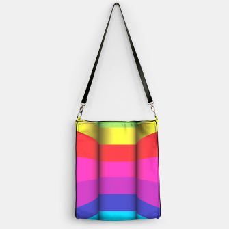 Thumbnail image of Bright Curved Vibrant Abstract Handbag, Live Heroes