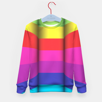 Thumbnail image of Bright Curved Vibrant Abstract Kid's Sweater, Live Heroes