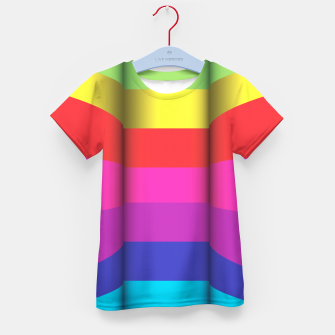 Thumbnail image of Bright Curved Vibrant Abstract Kid's T-shirt, Live Heroes