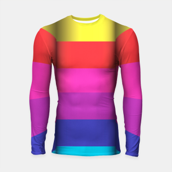 Thumbnail image of Bright Curved Vibrant Abstract Longsleeve Rashguard , Live Heroes