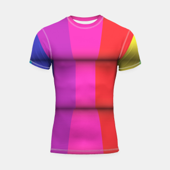 Thumbnail image of Bright Curved Vibrant Abstract Shortsleeve Rashguard, Live Heroes