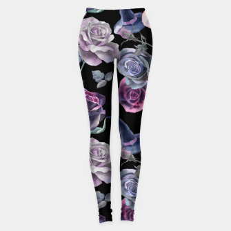 Miniatur Dark flowers Leggings, Live Heroes