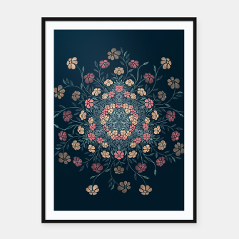 Thumbnail image of Pretty Pastel Flowers Framed poster, Live Heroes