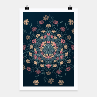 Thumbnail image of Pretty Pastel Flowers Poster, Live Heroes
