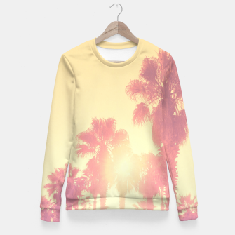 Miniaturka yellow palmtrees Fitted Waist Sweater, Live Heroes