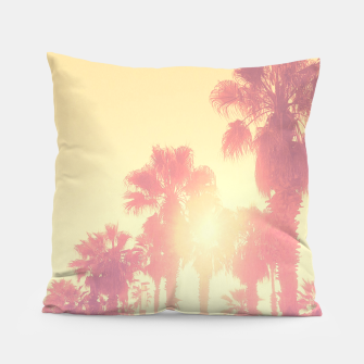 Miniaturka yellow palmtrees Pillow, Live Heroes