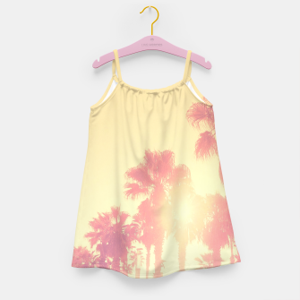 Miniaturka yellow palmtrees Girl's Dress, Live Heroes