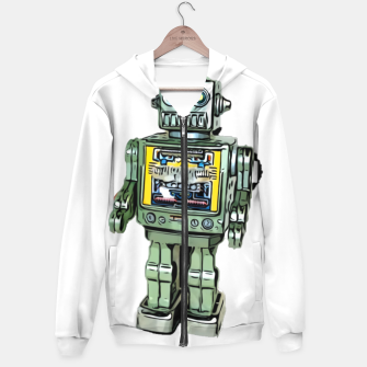 Thumbnail image of Robot Cartoon CLEAR print background Hoodie, Live Heroes