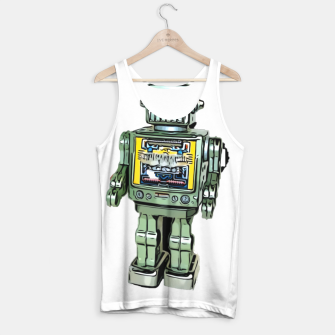Thumbnail image of Robot Cartoon CLEAR print background Tank Top, Live Heroes