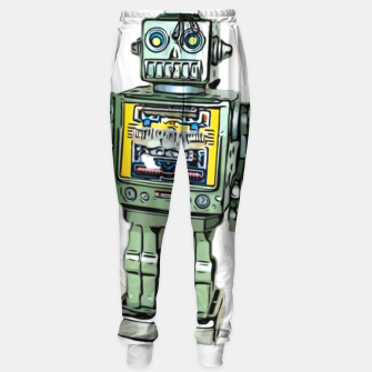 Thumbnail image of Robot Cartoon CLEAR print background Sweatpants, Live Heroes