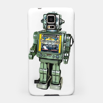 Thumbnail image of Robot Cartoon CLEAR print background Samsung Case, Live Heroes
