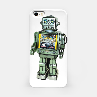 Thumbnail image of Robot Cartoon CLEAR print background iPhone Case, Live Heroes