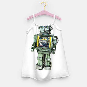 Thumbnail image of Robot Cartoon CLEAR print background Girl's Dress, Live Heroes