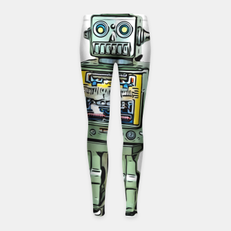Thumbnail image of Robot Cartoon CLEAR print background Girl's Leggings, Live Heroes
