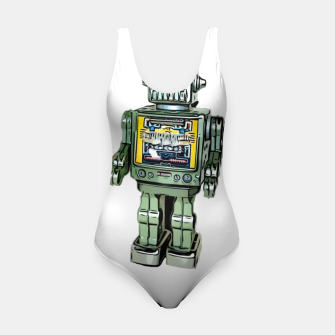 Thumbnail image of Robot Cartoon CLEAR print background Swimsuit, Live Heroes