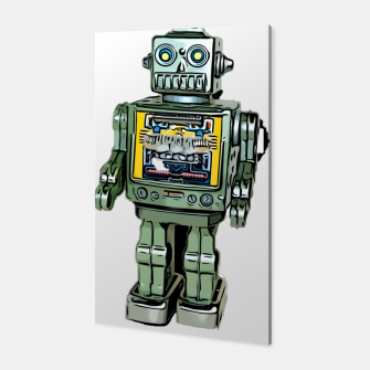 Thumbnail image of Robot Cartoon CLEAR print background Canvas, Live Heroes