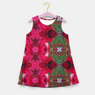Miniatur Christmas Wrap Summer Dress for Girls, Live Heroes