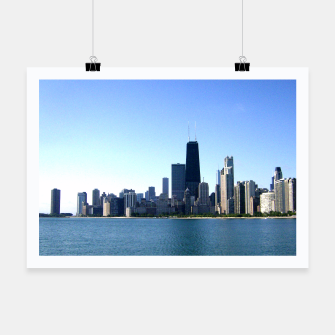 Thumbnail image of Chicago Skyline Poster, Live Heroes