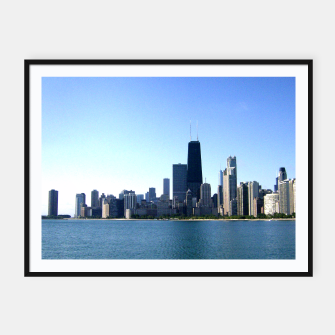 Thumbnail image of Chicago Skyline Framed Poster, Live Heroes