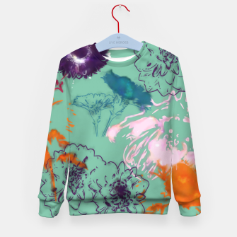 Thumbnail image of Fall flower green Kid's Sweater, Live Heroes
