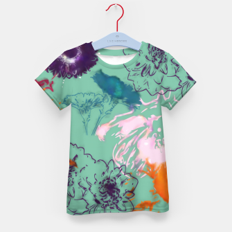 Thumbnail image of Fall flower green Kid's T-shirt, Live Heroes