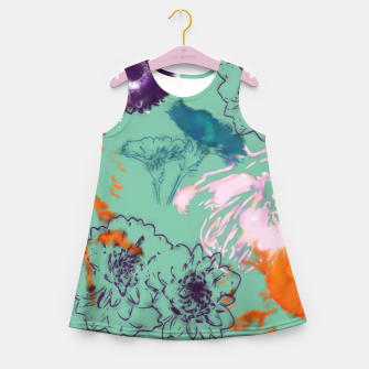 Thumbnail image of Fall flower green Girl's Summer Dress, Live Heroes