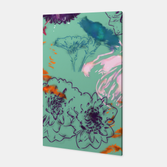 Thumbnail image of Fall flower green Canvas, Live Heroes
