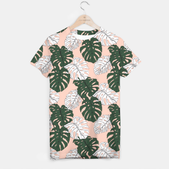Thumbnail image of Hand drawing monstera pastel color Camiseta, Live Heroes