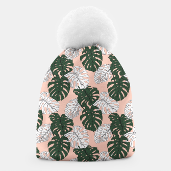 Thumbnail image of Hand drawing monstera pastel color Gorro, Live Heroes
