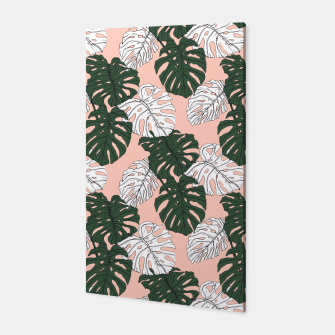 Thumbnail image of Hand drawing monstera pastel color Canvas, Live Heroes