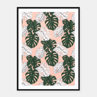 Thumbnail image of Hand drawing monstera pastel color Cartel con marco, Live Heroes