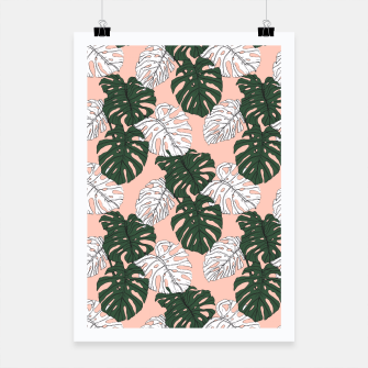 Thumbnail image of Hand drawing monstera pastel color Cartel, Live Heroes