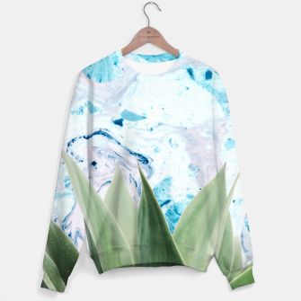 Thumbnail image of Marbled background plant Sudadera, Live Heroes