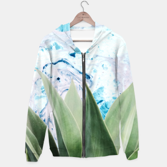 Thumbnail image of Marbled background plant Sudadera con capucha, Live Heroes