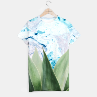 Thumbnail image of Marbled background plant Camiseta, Live Heroes