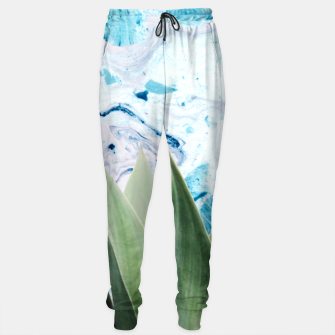 Thumbnail image of Marbled background plant Pantalones de chándal, Live Heroes