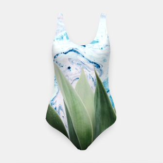 Thumbnail image of Marbled background plant Traje de baño, Live Heroes